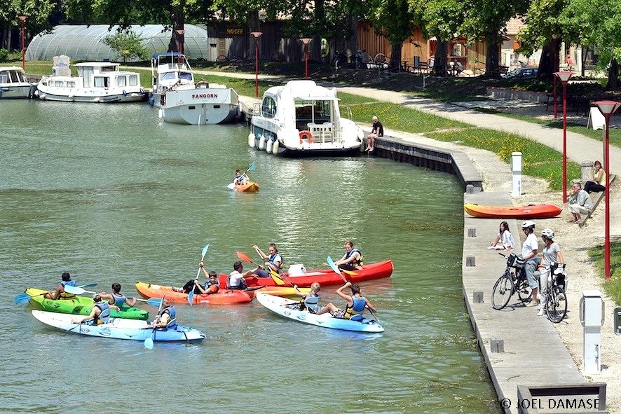 Randonnée à vélo de Toulouse à Bordeaux le long du Canal de Garonne