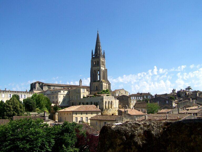 Vue générale de Saint-émilon et ses vignobles - Circuit groupe