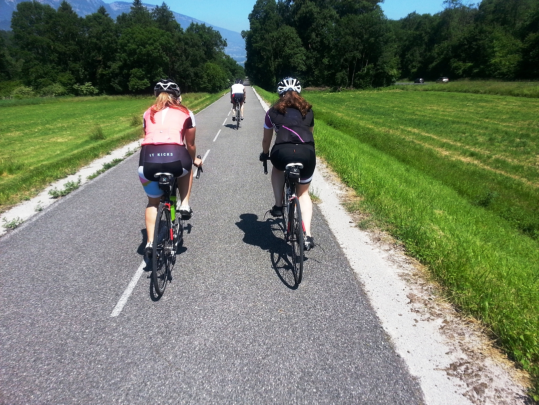 The three lakes route by bike easy cycling in alps landscapes