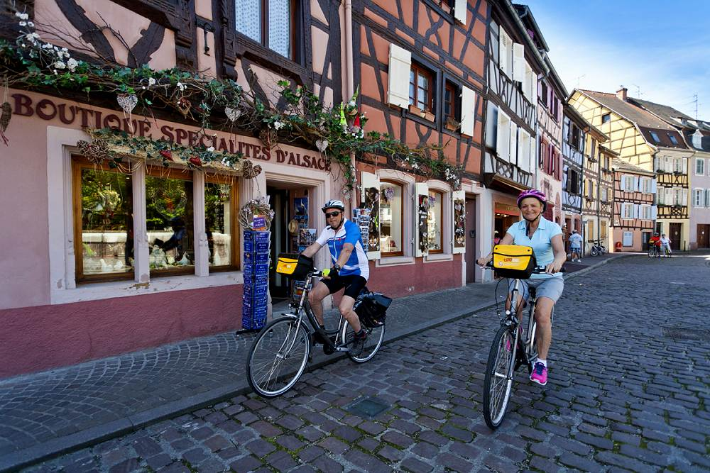 Biking Alsace on the wine route from Strasbourg to Colmar