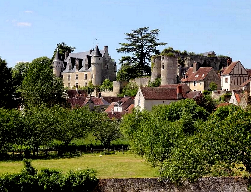 Cycling in Pays de Loire - Village and castle of Montrichad