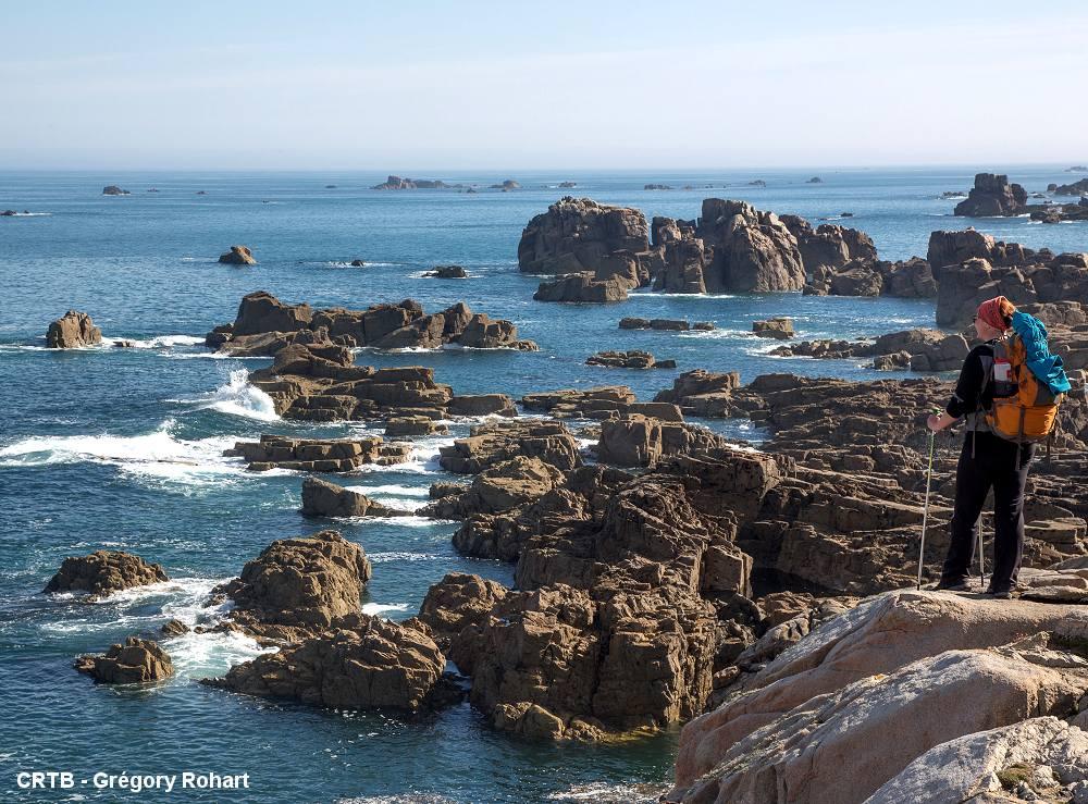 Randonnée pédestre en Bretagne le long des côtes d'Armor>